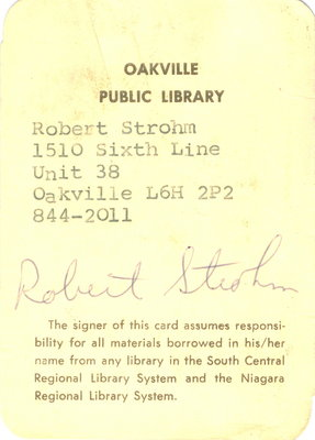 Sample library card