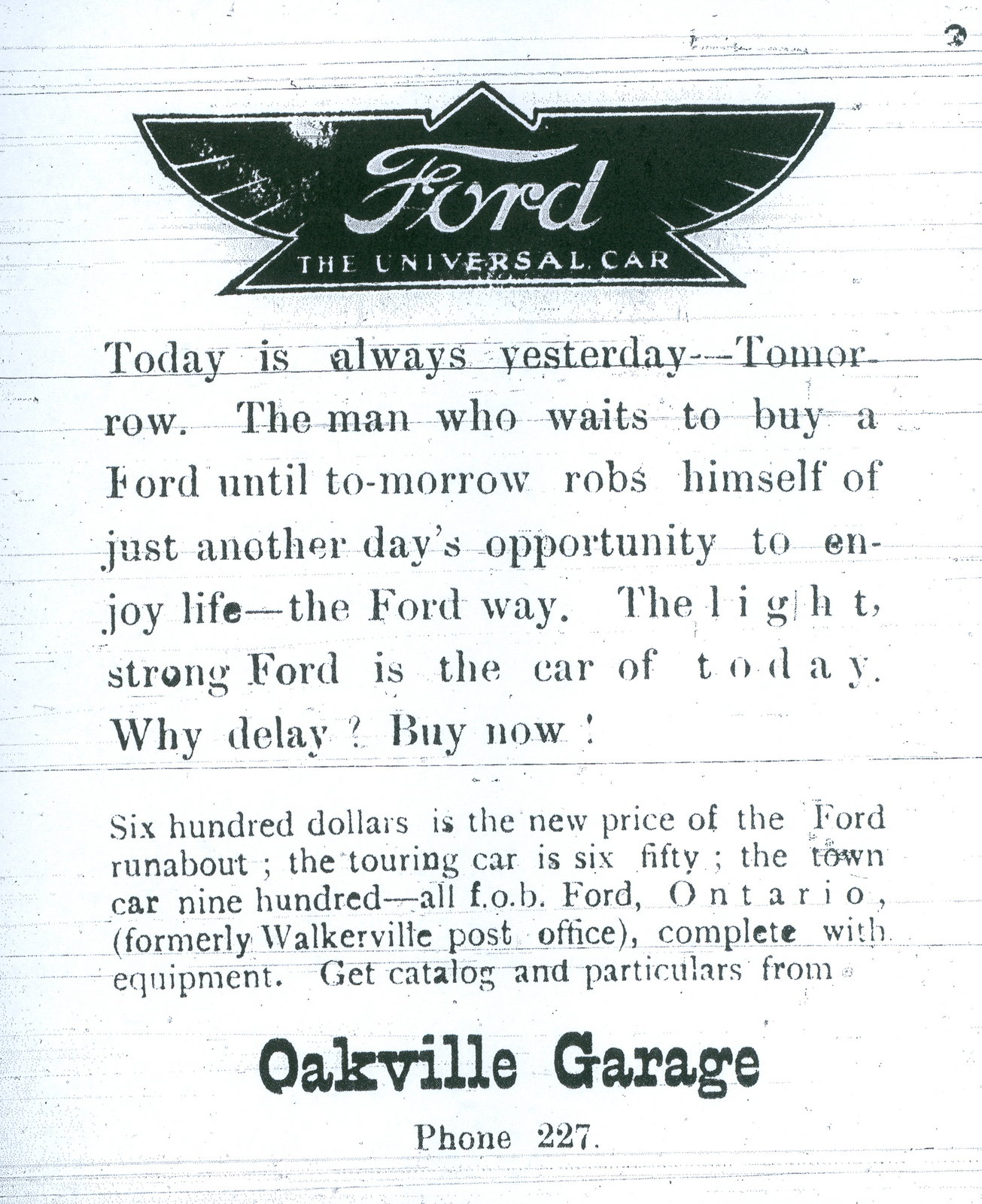 Ford Advertisement, 1941