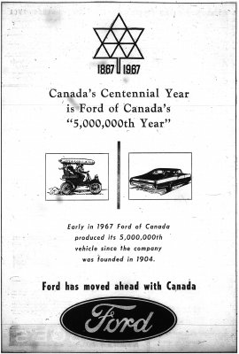 Ford Motor Company of Canada advertisement