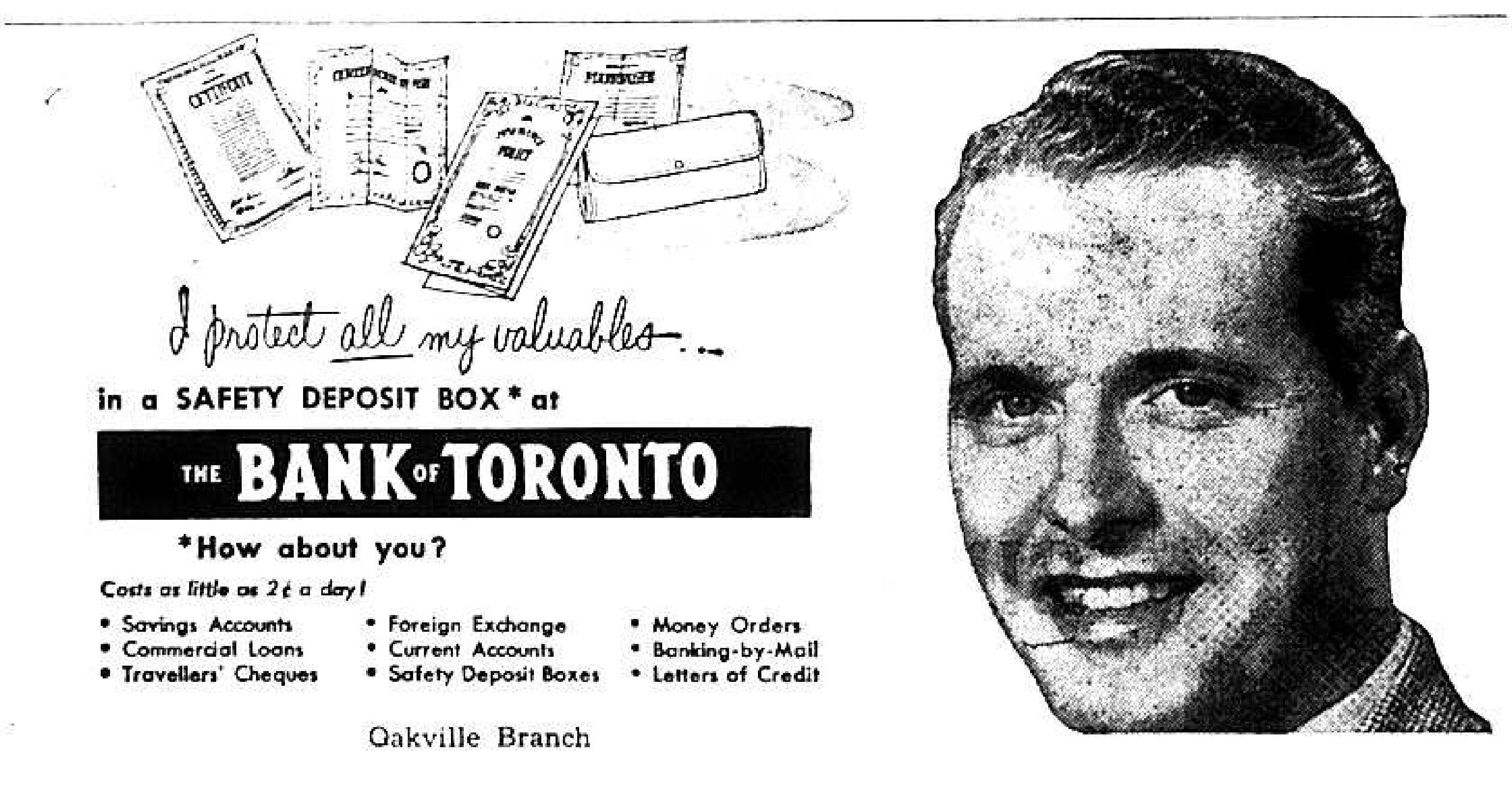 The Bank of Toronto Advertisement, 1953