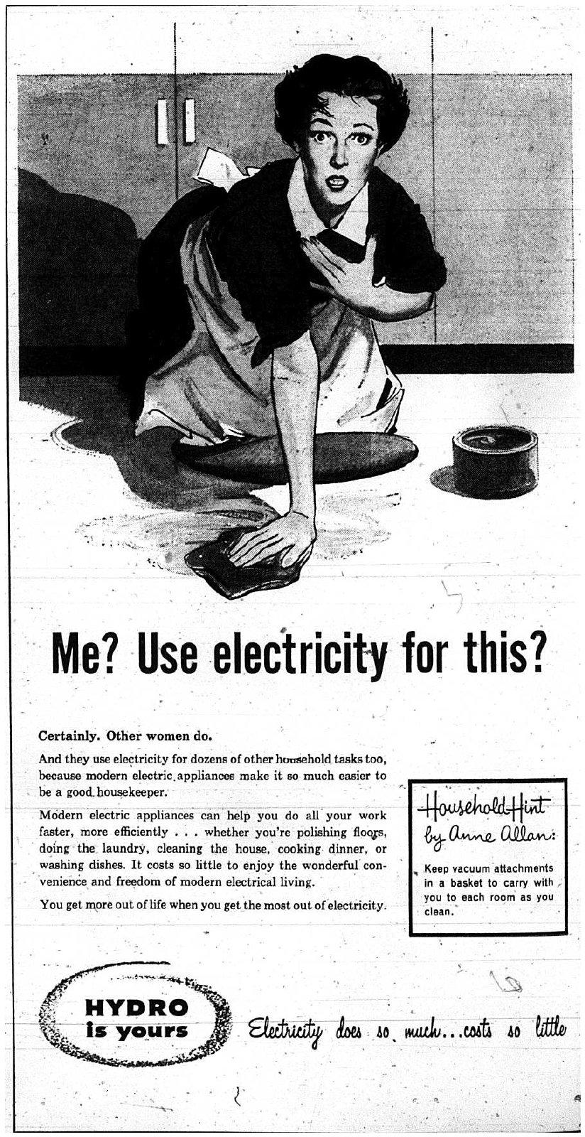 Oakville Hydro Advertisement, 1959