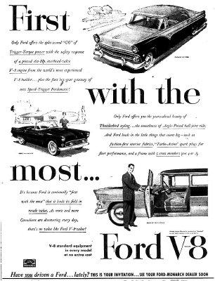 Ford V8 advertisement