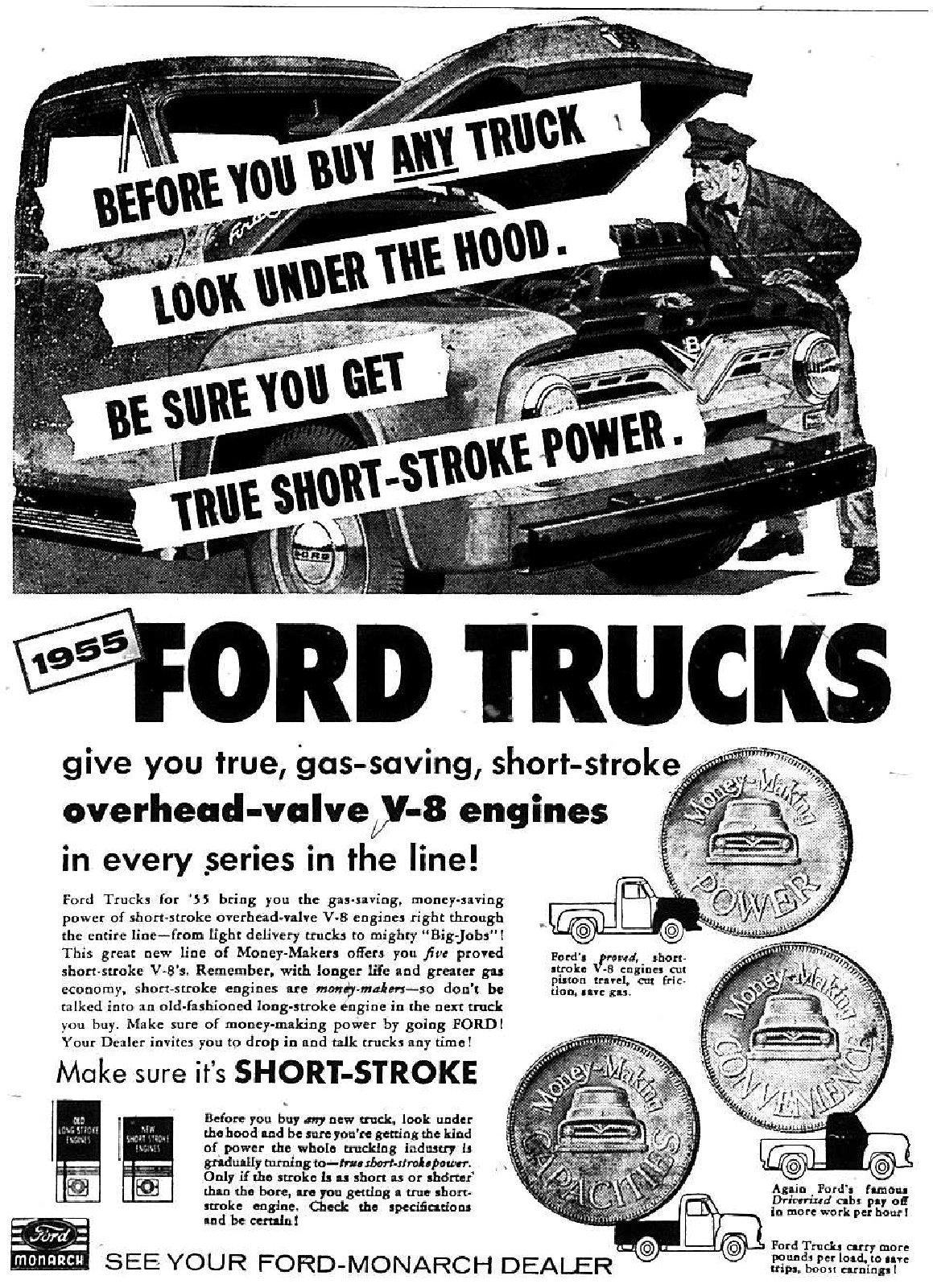 Ford Trucks Advertisement, 1955