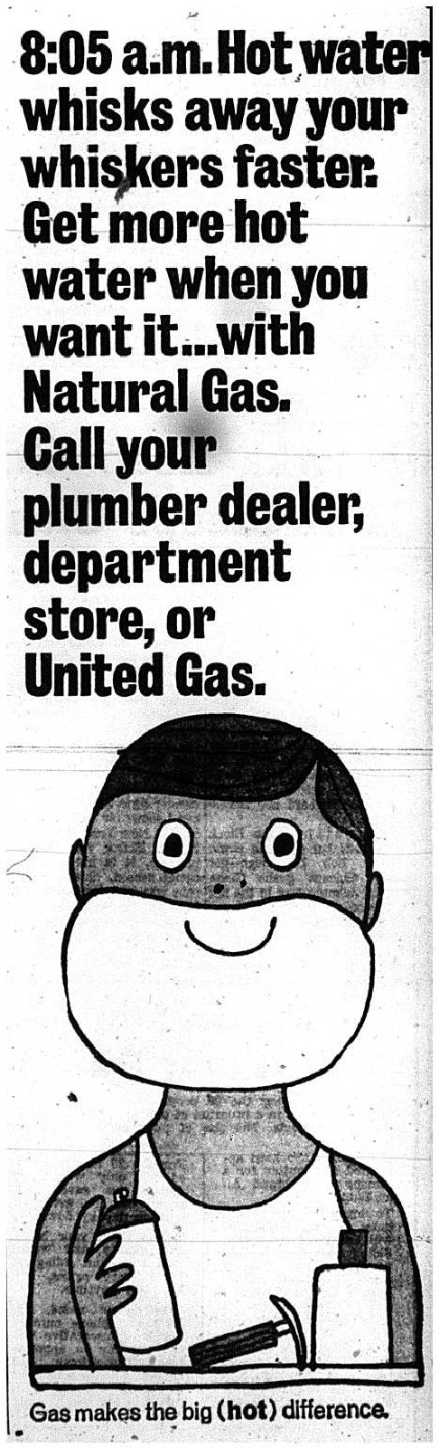 United Gas Advertisement, 1966