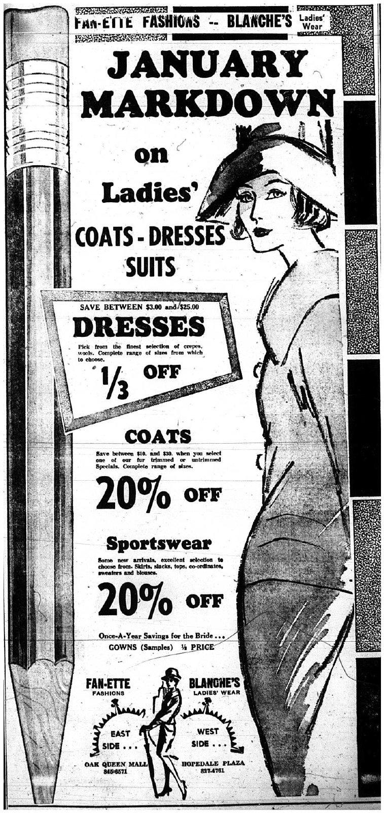 Fashion Advertisement, 1966