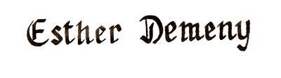 Calligraphy, Esther Demeny