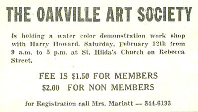 Advertisment for watercolour class
