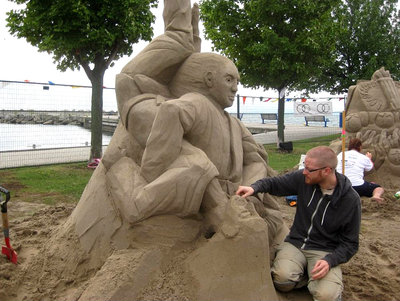 Habrour Days - Sand sculpting competition.<br> Photo courtesy of Bronte BIA.