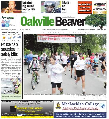 Oakville Beaver, 18 Sep 2013