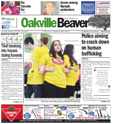 Oakville Beaver, 20 Feb 2014