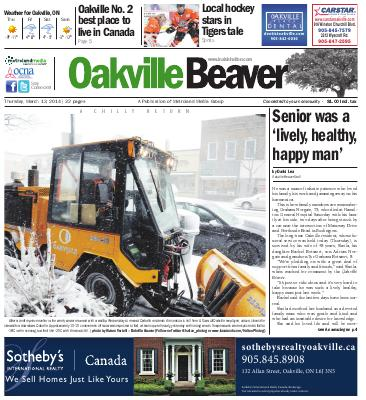 Oakville Beaver, 13 Mar 2014