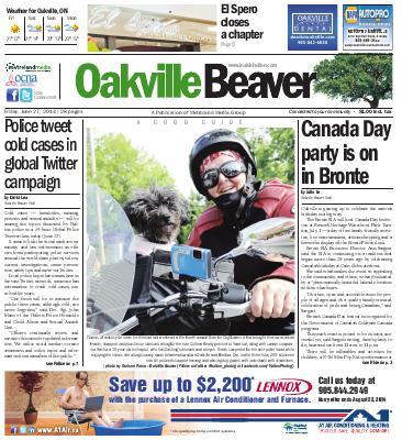 Oakville Beaver, 27 Jun 2014
