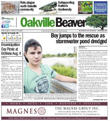 Oakville Beaver, 1 Aug 2014