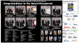 The 20th Annual Oakville Awards for Business Excellence: Congratulations to the Award Recipients