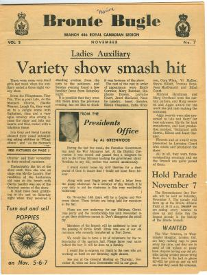 Bronte Bugle, November 1970