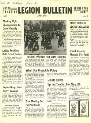 Legion Bulletin, April 1962