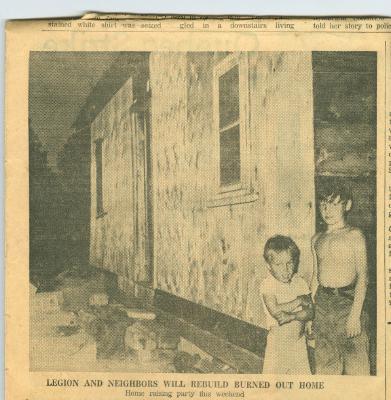 Legion Helps Bronte Family Home Burned