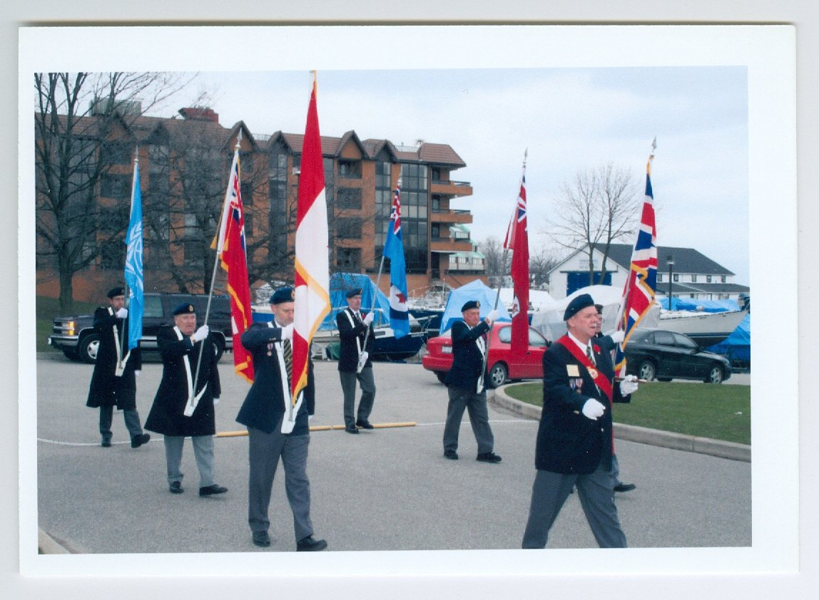 Second from left: Gene Reed, Bronte Legion Remembrance Day Parade c. 2000-2001