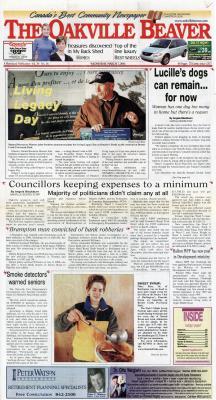 Oakville Beaver, 7 Mar 2001