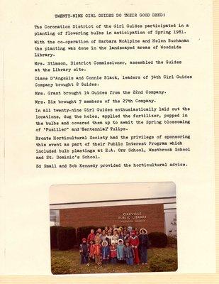 Twenty-Nine Girl Guides Do Their Good Deed!