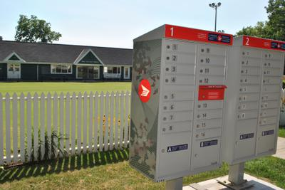 Oakville Lawn Bowling Club and Mail Boxes