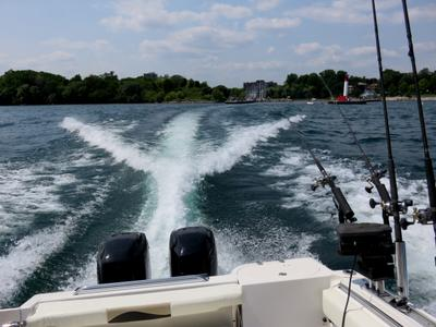 Oakville Pier From The Boat