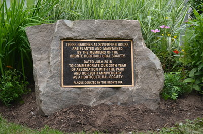 Bronte Horticultural Society 90th Anniversary plaque