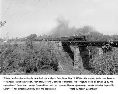Canadian National Railway (CNR) Bridge 16 Mile Creek Bridge, 1958