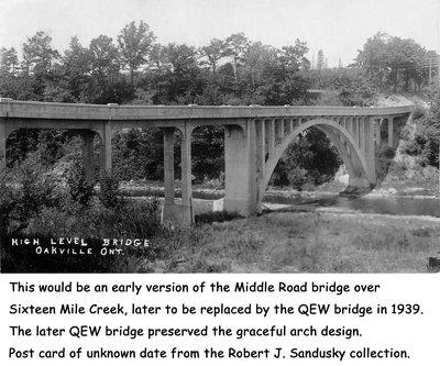 High Level Bridge, Middle Road, QEW