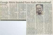 George Atkins founded Farm Radio International
