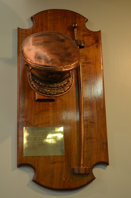 Major General Chris Vokes hat and cane plaque