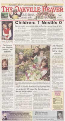 Oakville Beaver, 16 May 2001