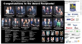 The 21st Annual Oakville Awards for Business Excellence: Congratulations to the Award of Recipients!