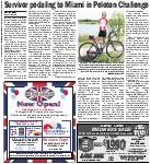 Survivor pedaling to Miami in Peloton Challenge