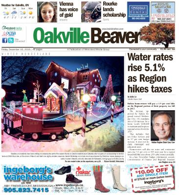 Oakville Beaver, 16 Dec 2016