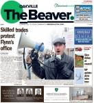 Skilled trades protest Flynn's office