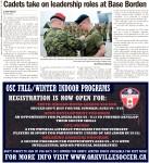 Cadets take on leadership roles at Base Borden