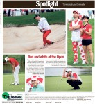 Red and White at the Open