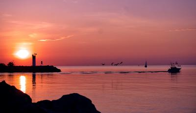 Bronte Harbour Sunrise by John Silk