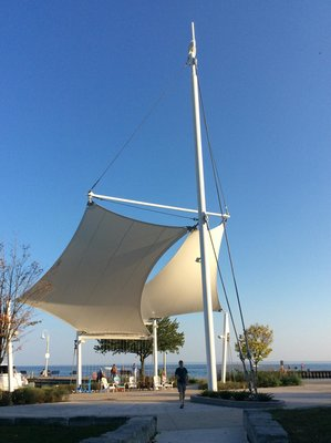 Sail shade structure at Bronte Heritage Park