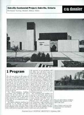 Oakville Centennial Project Dossier
