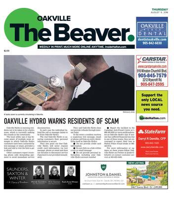 Oakville Beaver, 9 Aug 2018