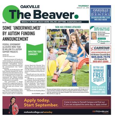 Oakville Beaver, 22 Aug 2019