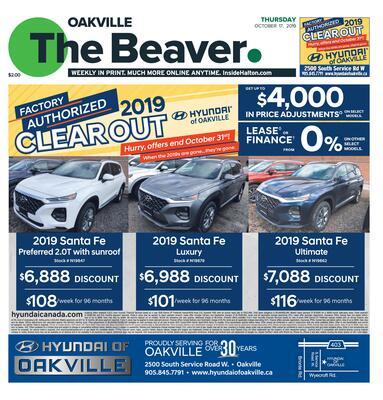 Oakville Beaver, 17 Oct 2019