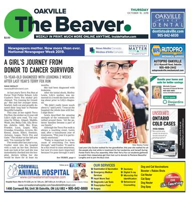 Oakville Beaver, 10 Oct 2019