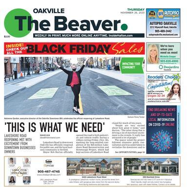 Oakville Beaver, 26 Nov 2020