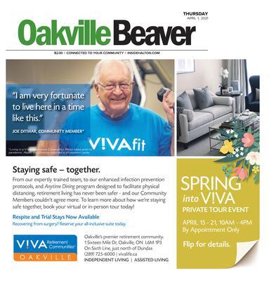 Oakville Beaver, 1 Apr 2021