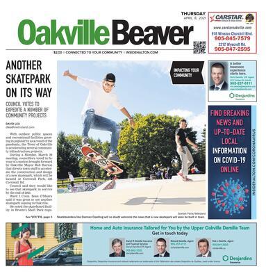 Oakville Beaver, 8 Apr 2021