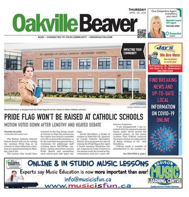 Oakville Beaver, 29 Apr 2021