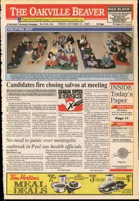 Oakville Beaver, 15 Oct 1993